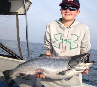 Lake Ontario king salmon fishing on the eastern bay of Lake Ontario, NY